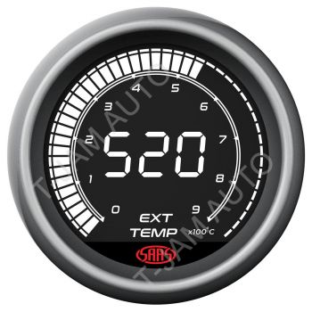 SAAS Exhaust Temp Gauge EGT Pyro 0-900 Deg Muscle Digital Series 52mm